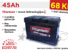 Akumulator TITANIUM 45Ah - Besplatna dostava!