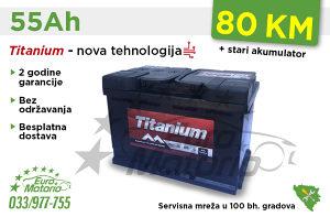 Akumulatori TITANIUM 55Ah - Besplatna dostava!