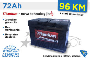 Akumulatori TITANIUM 72Ah - Besplatna dostava!