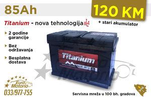 Akumulatori TITANIUM 85Ah - Besplatna dostava!