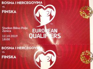 Karte / ulaznice za utakmicu BiH vs. Finska
