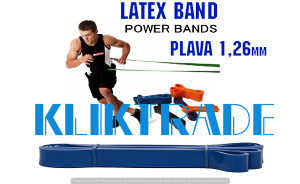 SET 2X LATEX BAND 1,26 Trening Traka Fitnes Plava