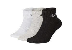 NIKE Čarape 3PPK Value Cotton Quarter SX4926-901