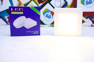 LED panel 6W 3000K nadgradbeni kockasti