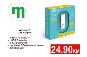 Wireless USB TL-WN821N - 24,90KM