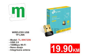 WIRELESS USB TP-LINK TL-WN725N  19.90KM