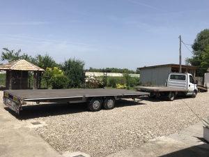 Auto prikolica dupla cerada 3500 kg