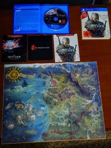 The Witcher 3 PS4 Playstation 4 (Mapa+Knjizice...)