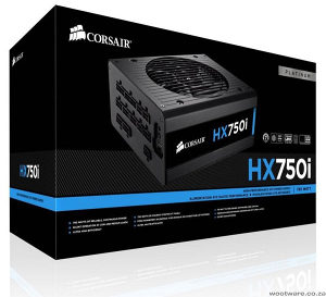 Corsair HX750i 750W, ATX, 140mm, 80 plus Platinum