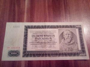 Novčanica Čehoslovačka