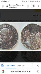 Medaljon  100 jahre  1971 kaiser