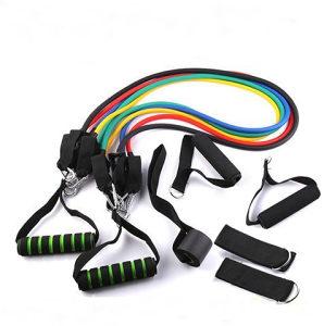Elastične Gume s Ručkama Pilates Traka Fitnes 3 razine