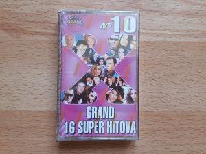 AUDIO KASETA-GRAND 16 SUPER HITOVA-NO 10