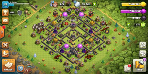 Clash Of Clans TH9 COC | Clash Royal arena 6 CR