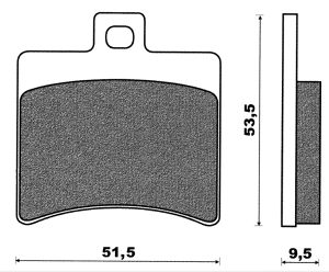 Zadnje disk pločice SR50 Scarabeo Malaguti