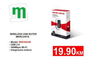 Wireless MERCUSYS N300 WIRELESS MINI USB 19,90
