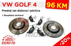 Golf 4 prednji diskovi i pločice - Besplatna dostava!