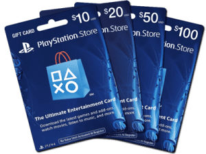 PS4 US gift cards/PSN redeem codes za US