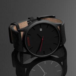 Sat MVMT Black Leather