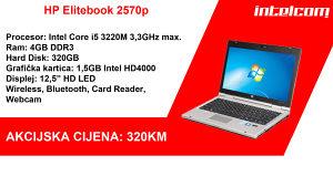 HP Elitebook 2570p Core i5 3rd gen.