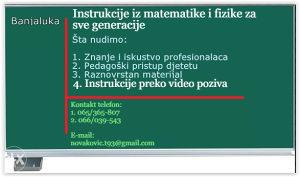 Instrukcije iz fizike i matematike za STUDENTE i ĐAKE