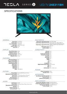 """Tesla TV 24"""" E311BH Led TV Black"""