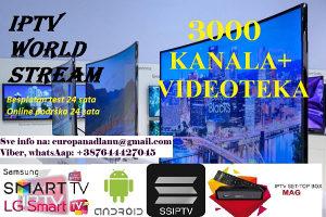 IPTV WORLD STREAM, 3000+ KANALA - VIDEOTEKA