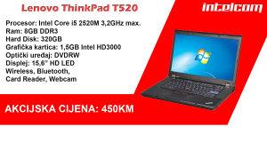 Lenovo ThinkPad T520 Core i5 2nd gen.