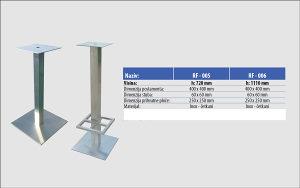 Ugostiteljsko postolje za sto - INOX - H72cm