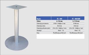 Ugostiteljsko postolje za sto-metal - okrugloH72cm