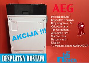 Mašina za suđe AEG- Akcija Bijela Tehnika