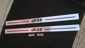 Naljepnice lajsne pragovi znak R R32 GTI GOLF 4 5 6 V