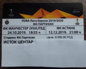 Ulaznica za EL..Partizan - Astana