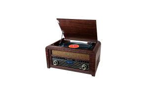 Gramofon sa CD playerom, USB, drveni