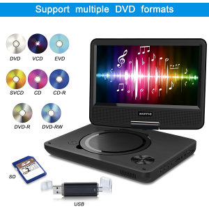 "Wonnie W-928 9"" portable DVD player/USB/SD"