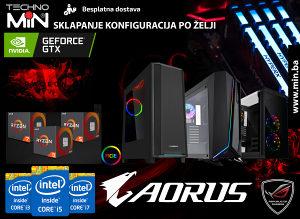 Core i5,i7,i9, Ryzen3,Ryzen5,Ryzen7, Nvidia GTX, AMD RX