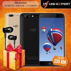AllCall Smartphone Atom Black/Gold XO S25 slušalice
