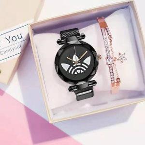 Ženski sat Adidas Black Diamond + Narukvica