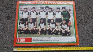 Poster fk čelik jugoslavija 1984 1985