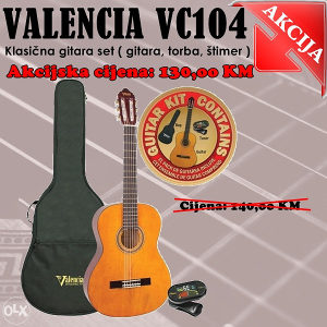 Valencia VC104 4/4 SET (Gitara,torba,stimer)