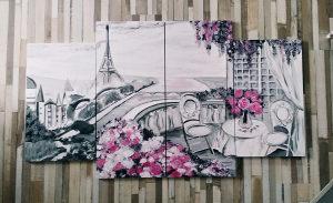 Moderne umjetničke slike iz više dijelova