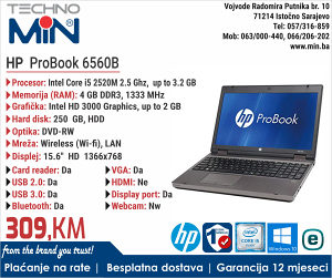 HP ProBook 6560B, i5 2520M 2.5/4/250/RW