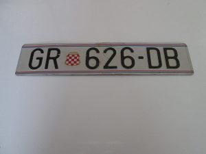 Tablice GR - Grude - Herceg Bosna