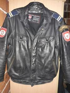 Policijska kozna jakna M velicina