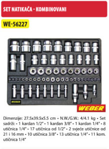 Set natikaca  - kombinovani WE-56227