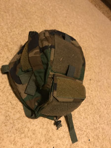 Airsoft woodland helmet cover