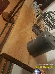 Konzolni stol hrast industrijski stil