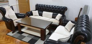Namjestaj,garnitura trosjed dvosjed i fotelja sto