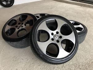"FELGE 18"" VW GTI DETROIT ORIGINAL + ODLICNE GUME !"