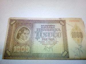 1000 kuna NDH hrvatska